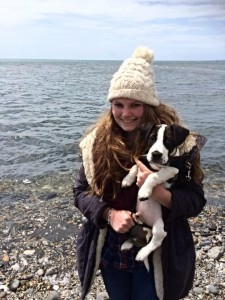 This is me and Monty at the beach!