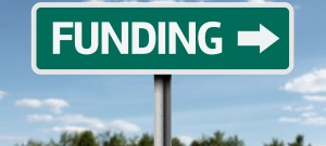 Creative sign with the text - Funding